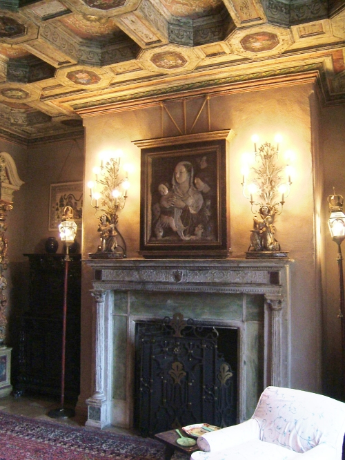 Ancient Fireplace Reclaimed from Spain installed in a castle in California Circa 1650