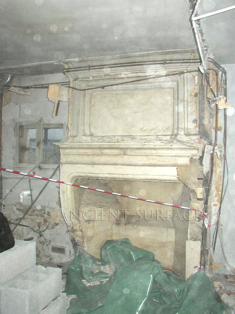 Antique Fireplace Mantle Prior to Reclamation
