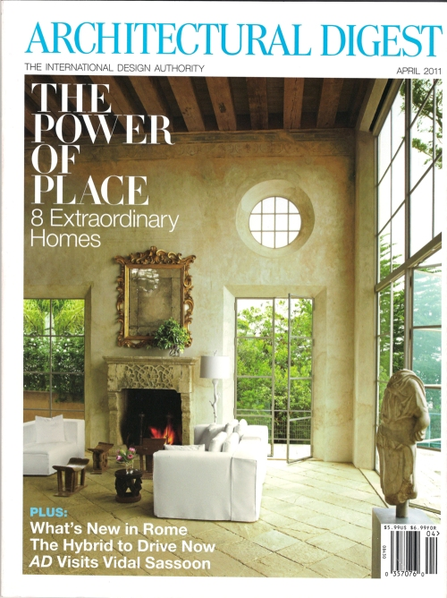 Architectural Digest Magazine April 2011