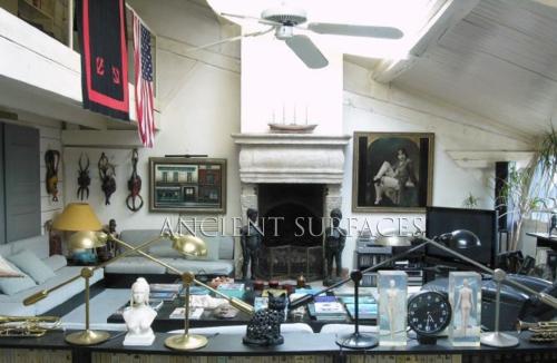 Villa Alonzo Alvarez Madrid restored antique fireplace mantel