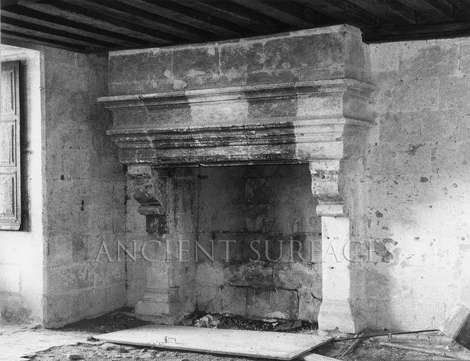 Villa Capitolo antique reclaimed fireplace mantel