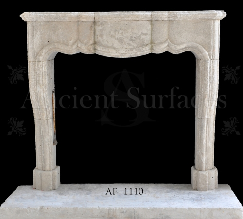 Antique Reclaimed Louis XV French Fireplace