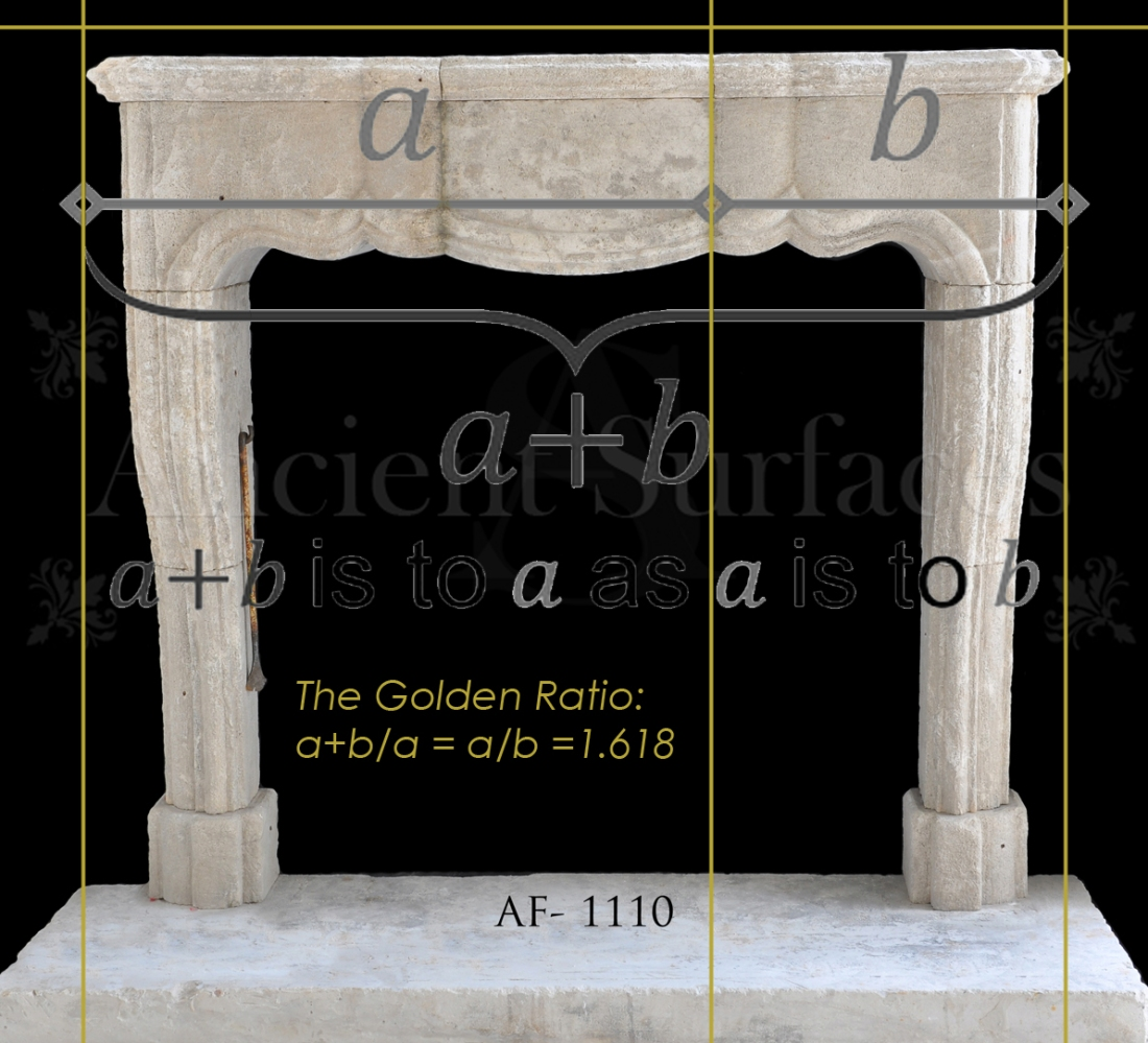 Antique Fireplace Cared Using the Golden Ratio
