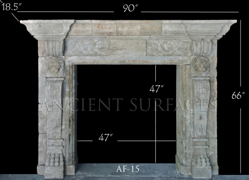 Antique Reclaimed English Mantle with an Italian Influance