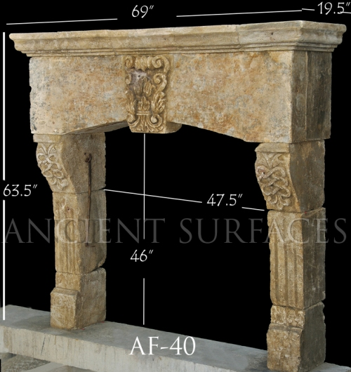 Antique Reclaimed French Fireplace