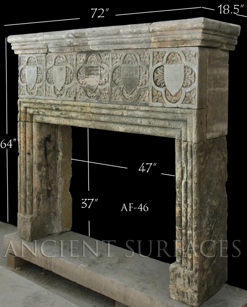 Antique Reclaimed Medieval Mantle