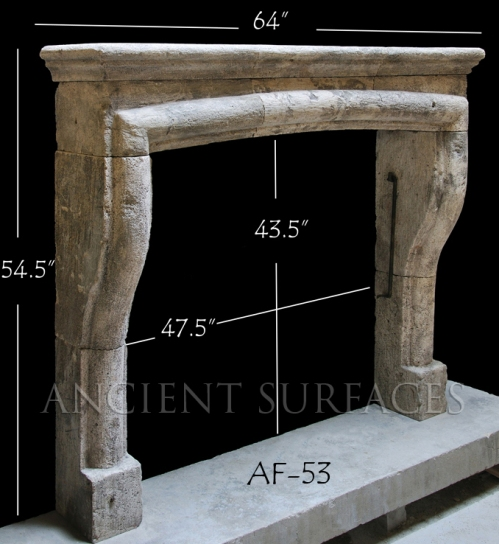 Antique Reclaimed French Fireplace Mantle with a Bolection Simple Frame