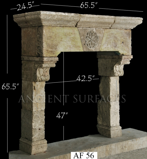 Antique Reclaimed Fireplace Mantle from the 17th Century
