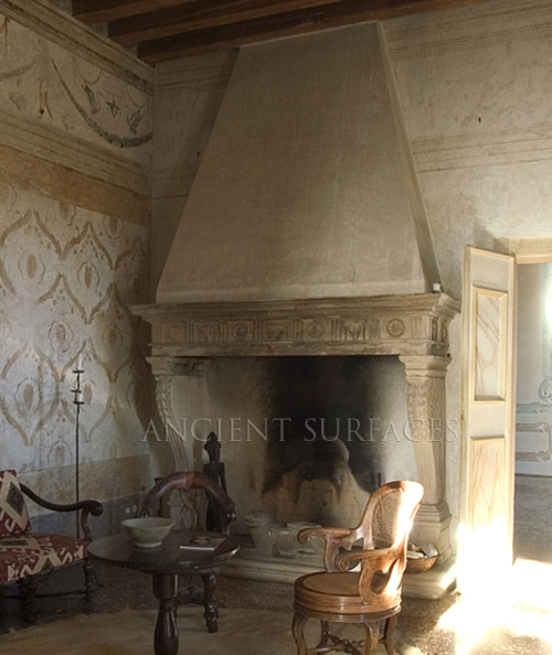 Ancient Fireplace in Situ in a 16th Century Italian Renaissance Villa