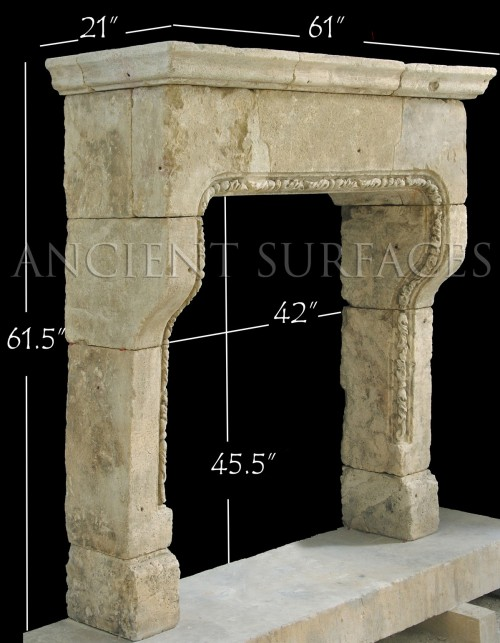 Antique Fireplace 'A Clef Vouttee'