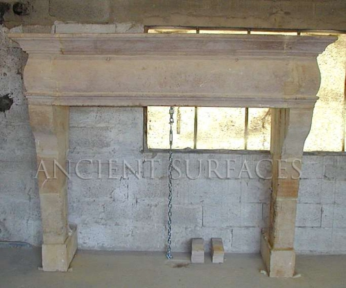 Antique Reclaimed Italian Countryside Fireplace