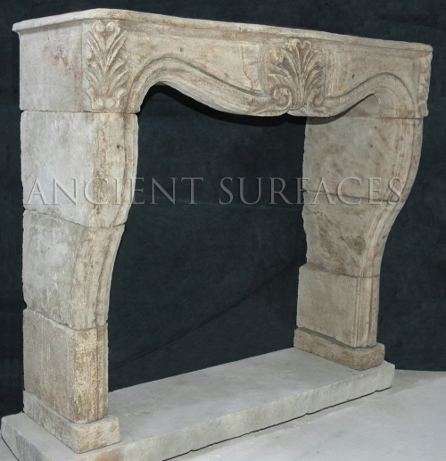 A splendid reclaimed fireplace mantels Louis XV Style