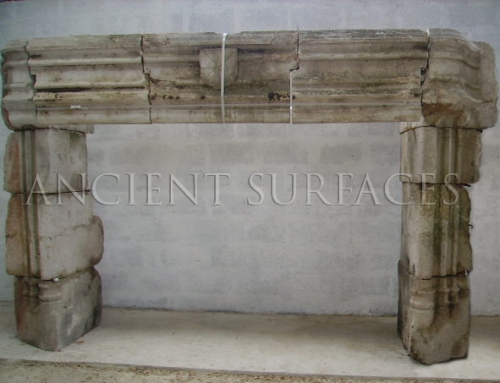 Antique reclaimed medieval fireplace mantle from Ireland