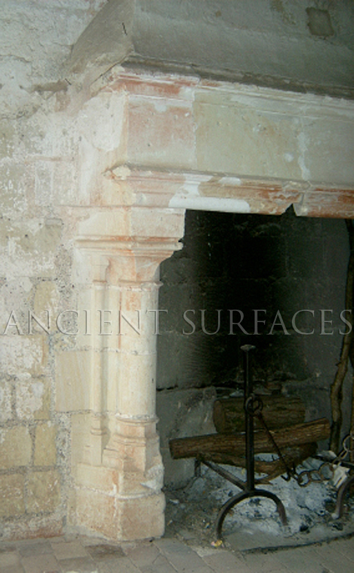 Antique Reclaimed Fireplace Mantle in an Old English Manor by Ancient Surfaces