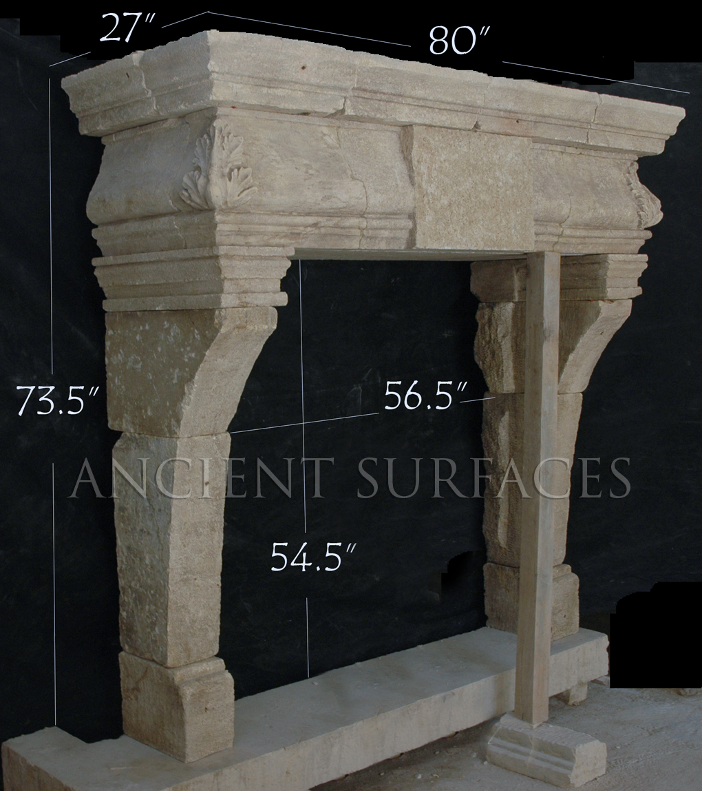 an anglofrench mixed style antique stone fireplace mantle - Antique Fireplace Mantels