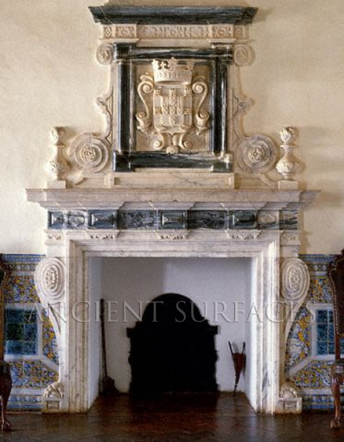 Antique Reclaimed Victorian style Marble Mantle from Portugal