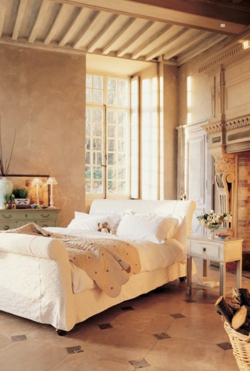 Beautiful Architectural Bedroom Fireplace