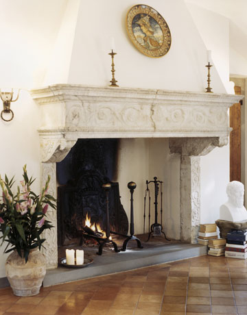 Antique Italian Fireplace