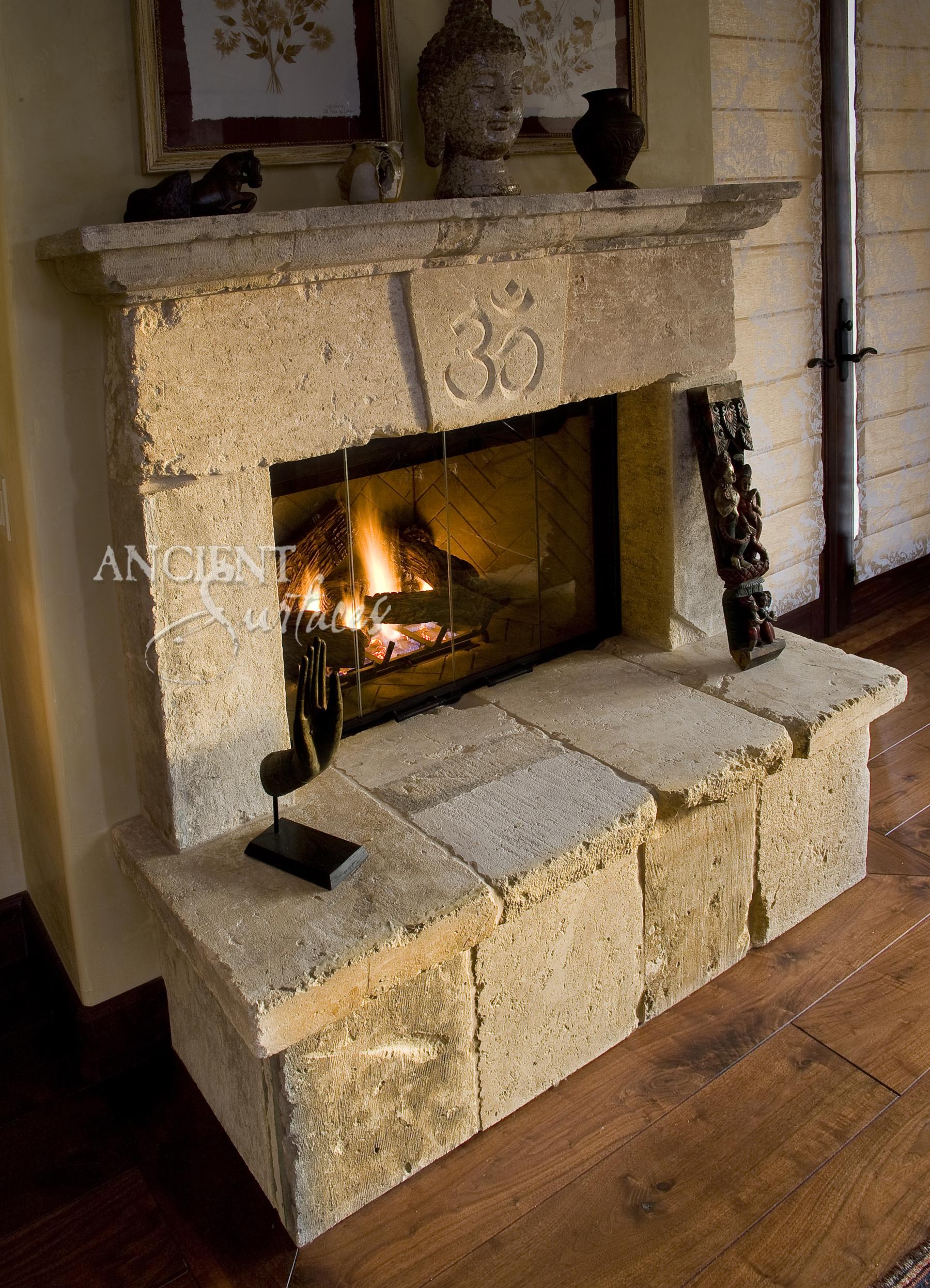 old stone fireplace home design. Black Bedroom Furniture Sets. Home Design Ideas
