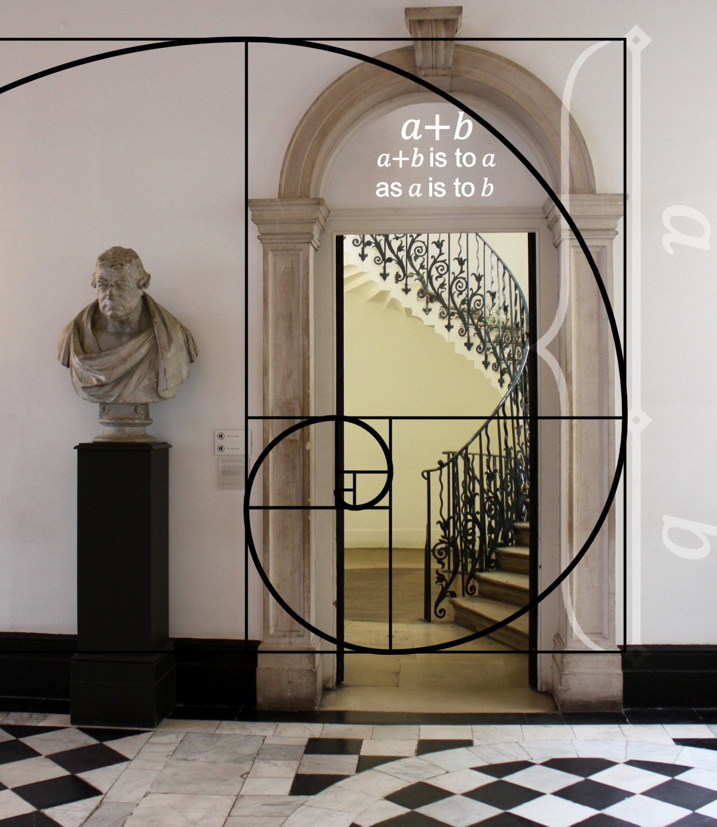 Limestone Entryway In A National Landmark Height And