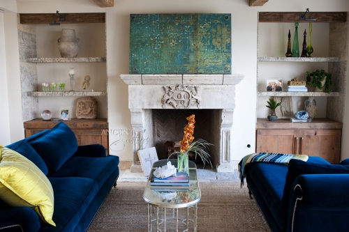 A reclaimed Italian Fireplace Mantle from the North of Italy. Reclaimed by Ancient Surfaces and sold to clients through a local dealer.