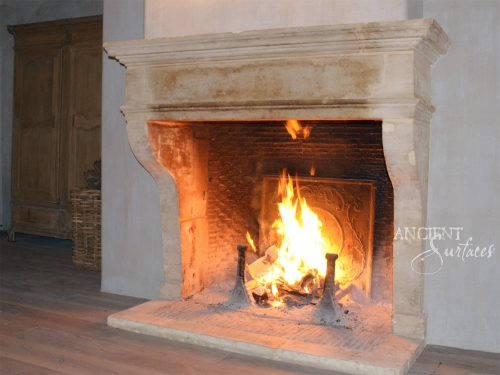 A Simple and Clean Line Antique Fireplace Mantle by Ancient Surfaces.