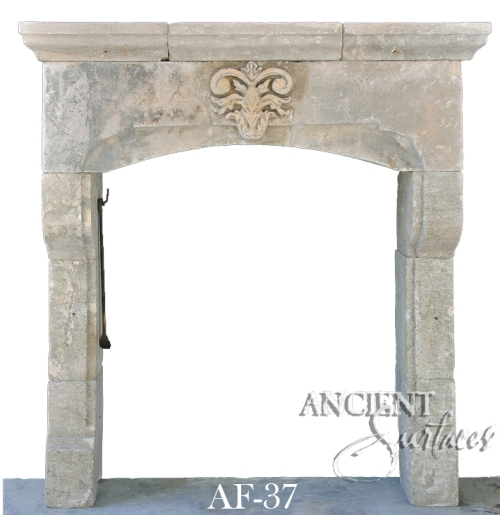 Antique stone fireplace by Ancient Surfaces. Ideas and examples from our upcoming online catalog.