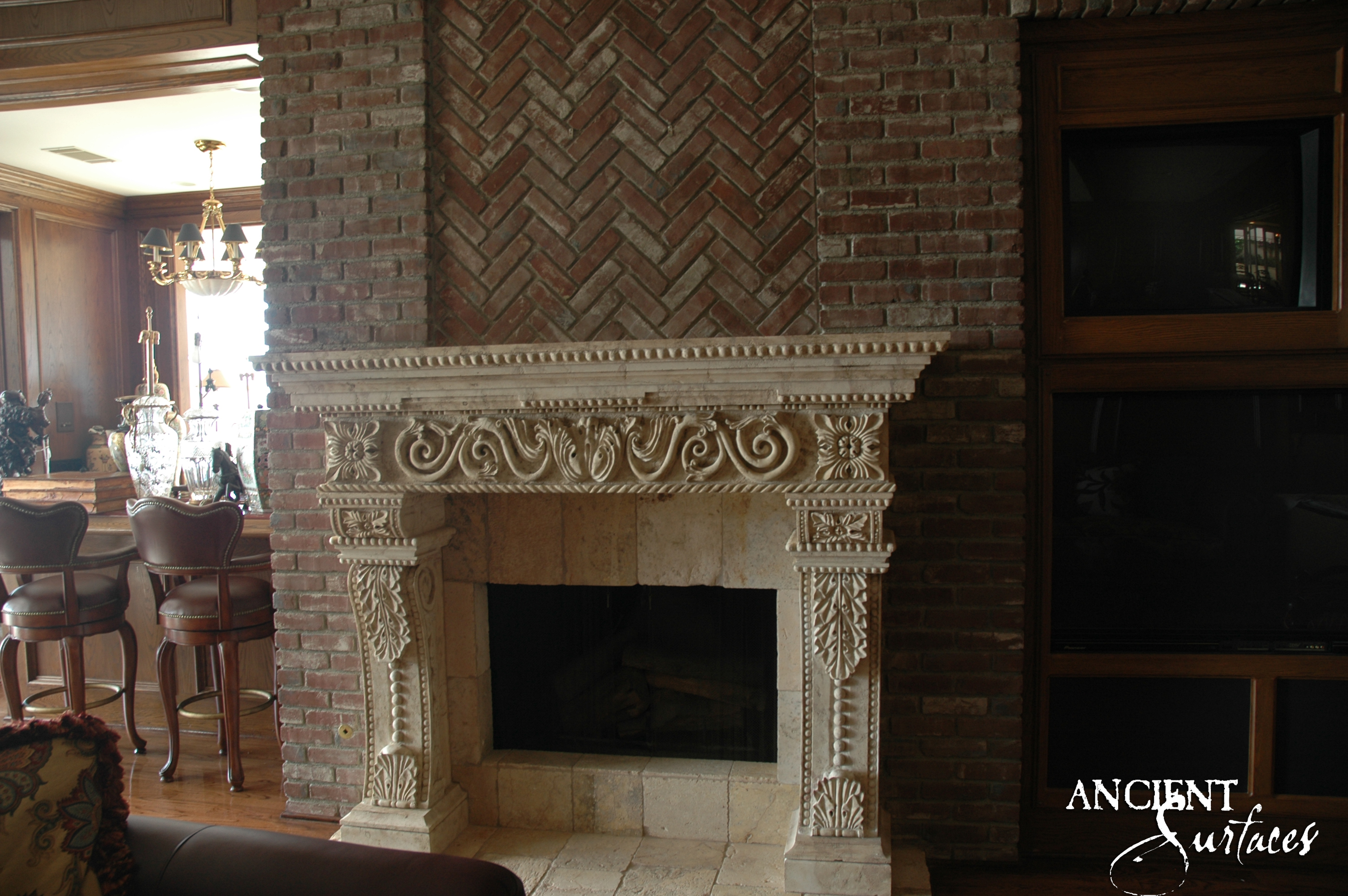 flooring white and over walls ceilings brazilian brick fireplace with laminating hardwood vintage victorian fireplaces wall dark room a living the firebox brown accessories style design for stone