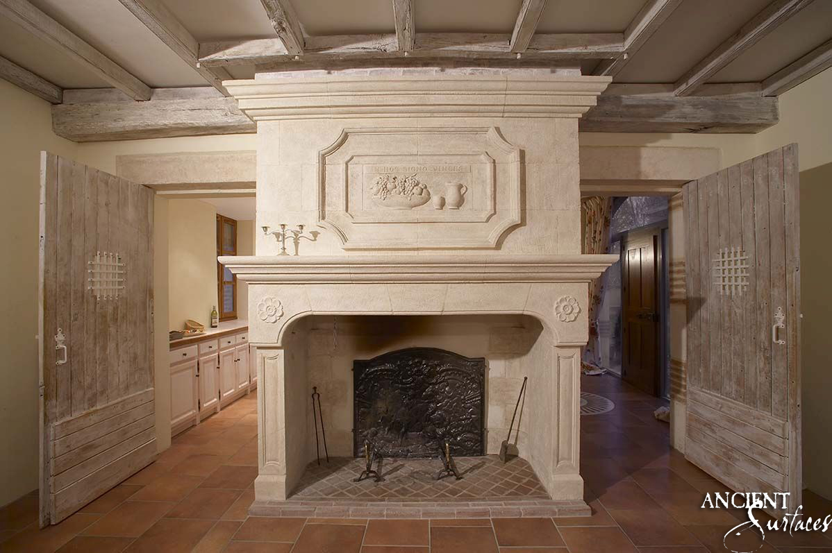 Antique english fireplaces antique fireplaces by ancient for Pierre refractaire pour cheminee