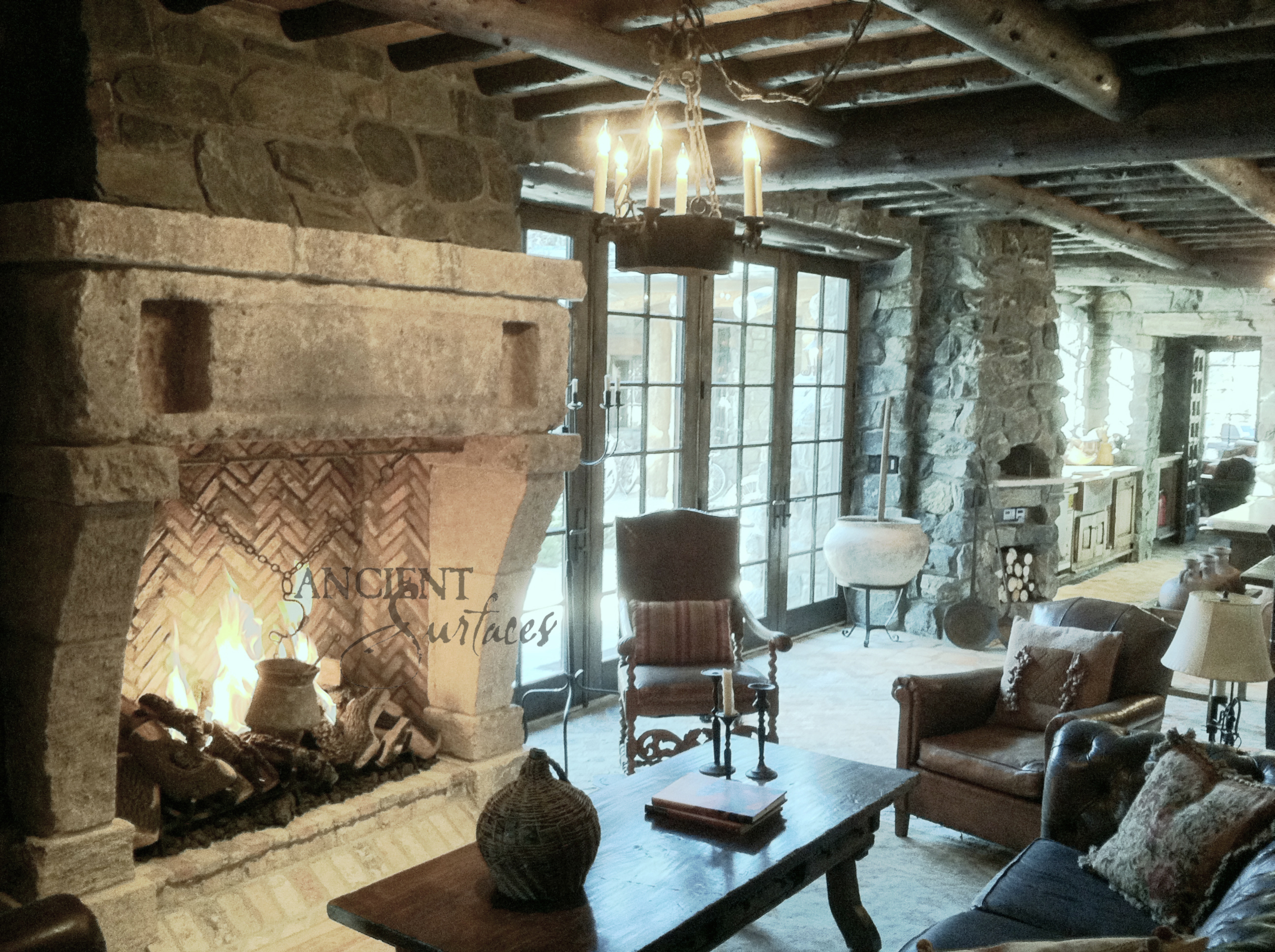continental stone fireplace antique fireplaces by ancient surfaces
