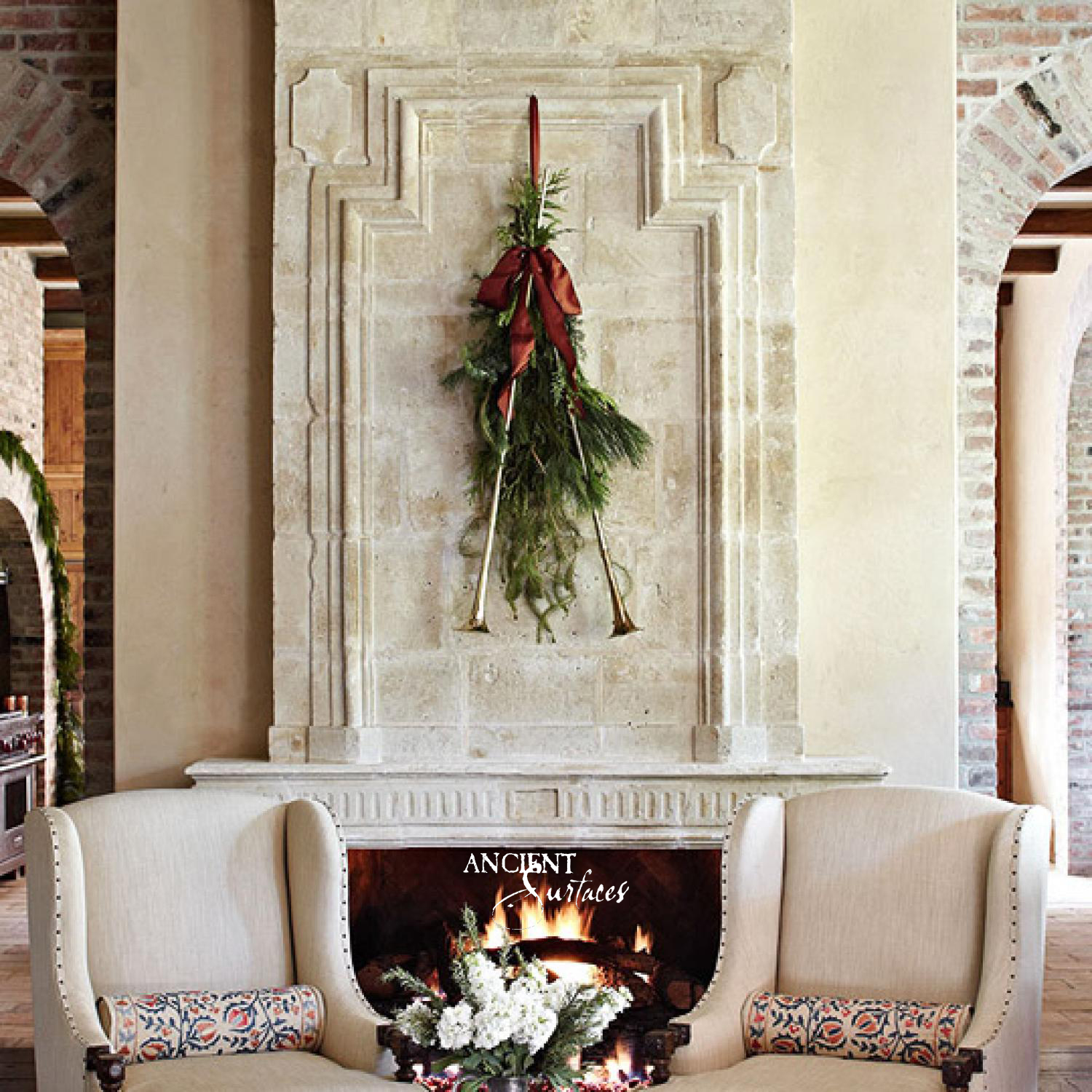 stone fireplace | Antique Fireplaces by Ancient Surfaces