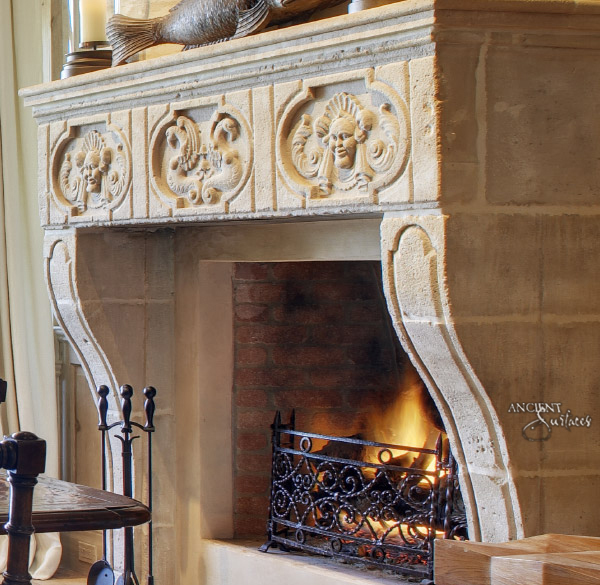 Antique Gothic Fireplace Antique Fireplaces By Ancient Surfaces