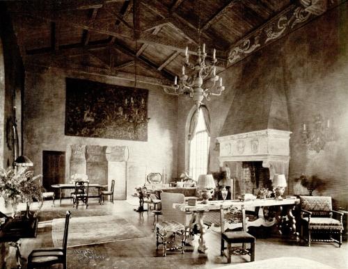 Italian Gothic Limestone Fireplace