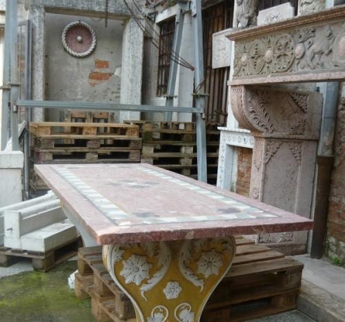 Italian Limestone Fireplace