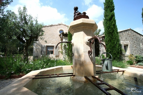 antique-limestone-pool-fountain-design-french-provence-farmhouse
