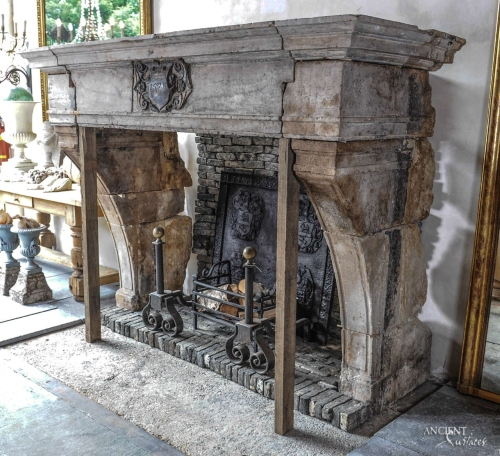 old-fully-carved-limestone-fireplace