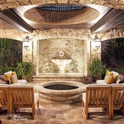 open-top-patio-with-firepit-and-a-wall-fountain-english-itaian-style