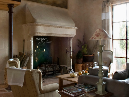 beautiful-limestone-fireplace-design