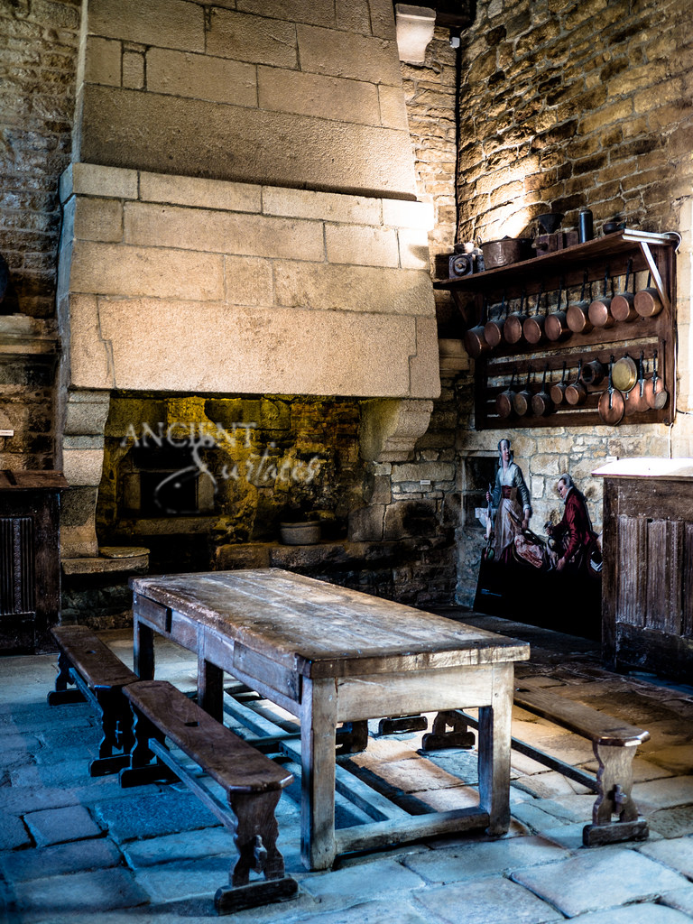 Frech Fireplace medieval kitchen hood