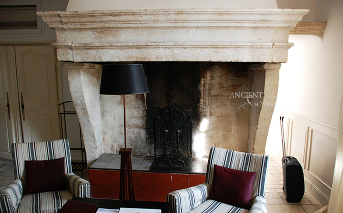 french farmhouse antique fireplace