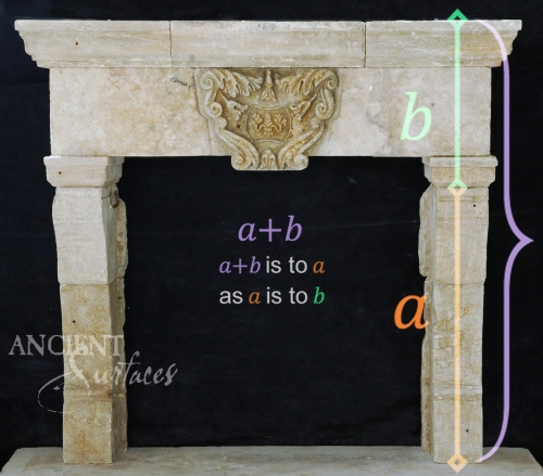 Antique-limestone-fireplace-stone-golden-ratio